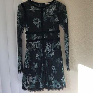 Nordstrom lace dress with velvet details